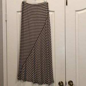 Max Studio Brown and Tan Maxi Skirt Size M